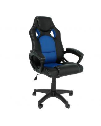 Bureaustoel manhattan blauw
